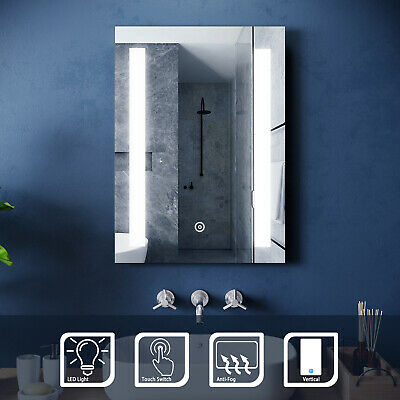 500x700mm Bathroom Illuminated LED Mirror with Light | DEMISTER | IP44 | TOUCH
