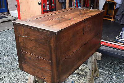 Heavy Solid Oak Early Victorian Chest