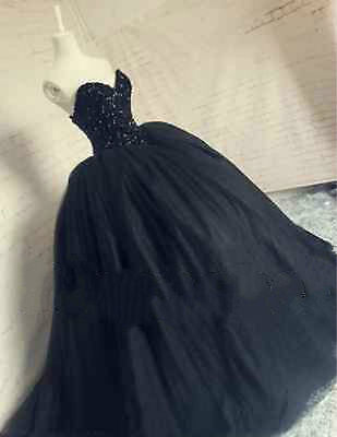 Quinceanera Wedding Dress Bridal Gown Black Formal Party Pageant Gown Custom All