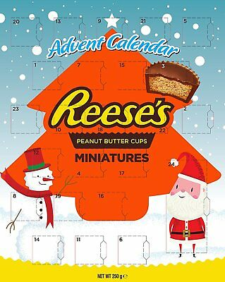 Reese's Peanut Butter Chocolate Sweets Candy Christmas Xmas Advent Calendar 2017