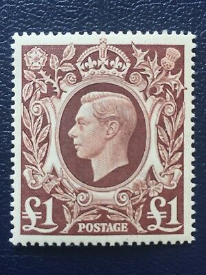 GB KGVI SG478c - £1 BROWN - 1939 HIGH VALUE - UNMOUNTED MINT