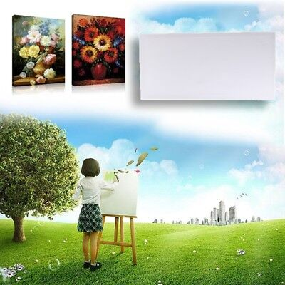 "12"" x 24"" Wood Blank Art Stretched Acrylic Primed Canvas Panel For Oil Painting"