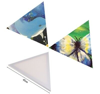 "16"" Triangle Wood Framed Pre-Stretched Blank Art Canvas Oil Painting Panel"