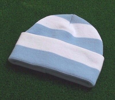 Manchester City Colours Retro Bar Hat - Sky Blue & White - Made in UK