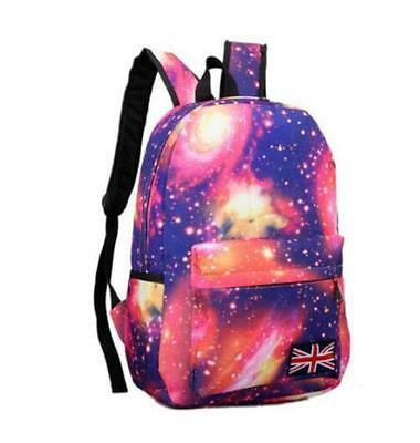 New Fashion Men/Women Space Canvas Backpack Traveling Casual Korean Bag Red