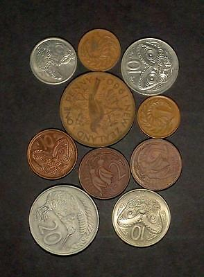 Small selection of coins from New Zealand (50g)