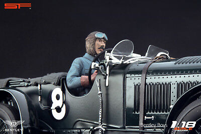 1/18 Tim Birkin racing driver VERY RARE!!! figurine for 1:18 Bentley Minichamps