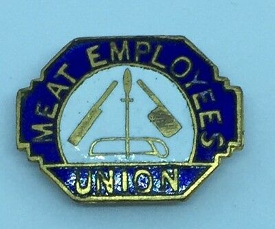Rare Vintage Meat Employees Union Badge Maker A.t Webb&sons