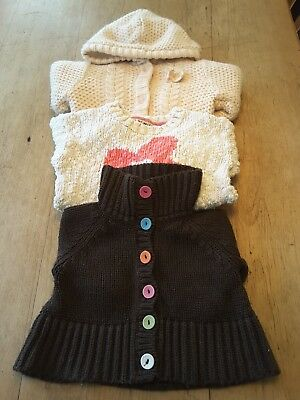 Bundle of three jumpers and cardigans for 12-18 month girl
