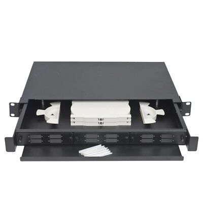 Fibre Optic Breakout Tray 1RU Sliding drawer
