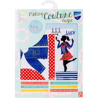 Dress Your Doll Making Couture Outfit Set Lucy Polka Dots V0164659