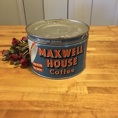 Vintage Maxwell House Coffee Can Good To The Last Drop!  Excellent Condition