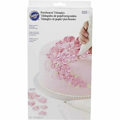 """Wilton 15"""" Parchment Paper Triangles (100 pce) - disposable piping bags"""