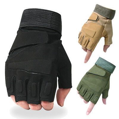 Army Tactical Half Finger Gloves Airsoft Paintball Fingerless Motorcycle Cycling