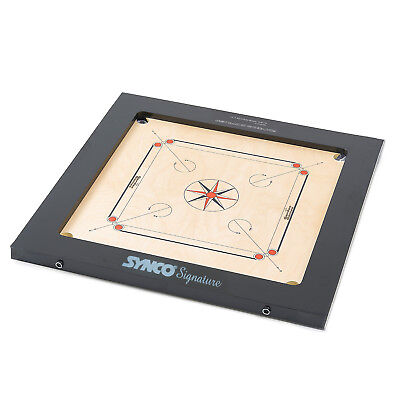 "Premium Carrom Board Synco Signature Extra Thick 24mm Playing Surface 35"" x 35"""