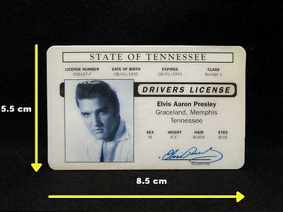 ELVIS PRESLEY Reproduction Novelty Drivers Licence ~ Graceland, 40th Anniversary