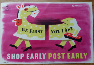 Original /repro vintage mid century British GPO advertising poster lot Eckersley