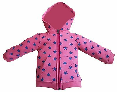 Red hoodie with stars for baby girl from age 3-24 months 100% Cotton