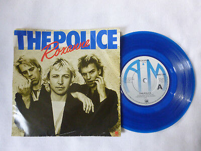 """The Police ~ Roxanne ~ 1979 Uk New Wave/rock 7"""" Blue Vinyl Single ~ Not Perfect"""