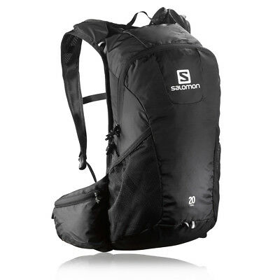 Salomon 20 Black Waterproof Trail Running Outdoors Backpack Rucksack Pack Bag
