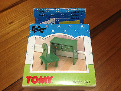 Collectable Sylvanian Families Dressing Table & Chair Tomy 3124 Vintage Original