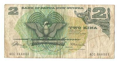 PNG 2 Kina old paper banknote Papua New Guinea