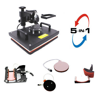 Digital Heat Press Machine 5-in-1, Multifunctional Transfer Sublimation PJ42