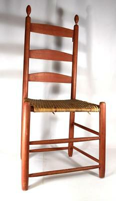 19TH C AMERICAN SHAKER ARCHED LADDER BACK CHAIR Lot 178