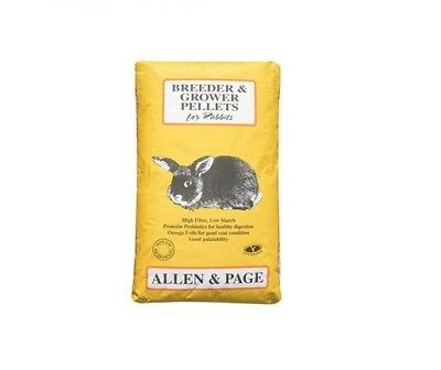 Allen & Page Rabbit Breeder & Grower Pellets 20kg Rabbit Food feed