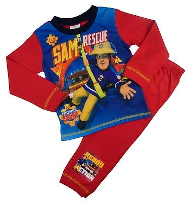 Boys Fireman Sam Pyjamas 18-24m to 4-5 years Fabolous Print Image Snuggle Fit