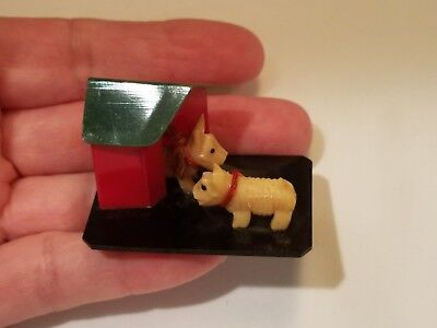 Celluloid Westies Terrier Scotty Dogs Made In Japan Rare
