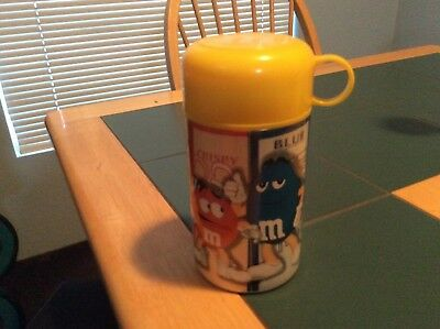 m&myellow thermos w/characters brand new