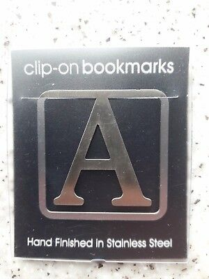 NEW Initial / Letter 'A' BOOKMARK Other Letters Available