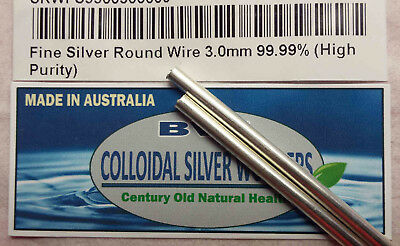 Silver Rods For Colloidal Use,  4 Inch Long , 3Mm Thick, .9999 High Purity