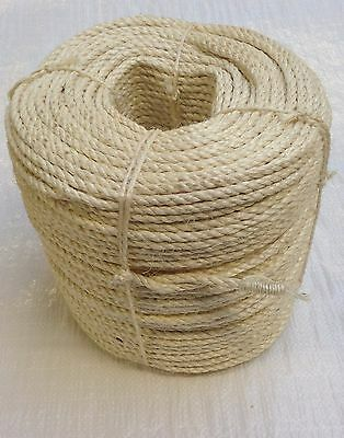 8mm Natural Sisal Decking Rope, Cat Scratching Post, Cats, Garden, Pets, Toys