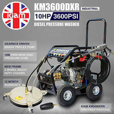 £16/WEEK on LEASE KM3600DXR Diesel Pressure Washer Driveway Pack Patio cleaner