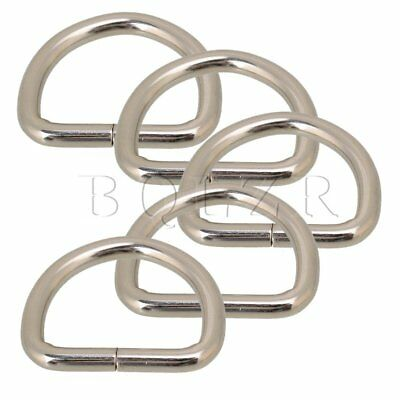 20pcs for Straps Bags Purses Belting Metal Belts Buckle Loop Ring D Ring Silvery