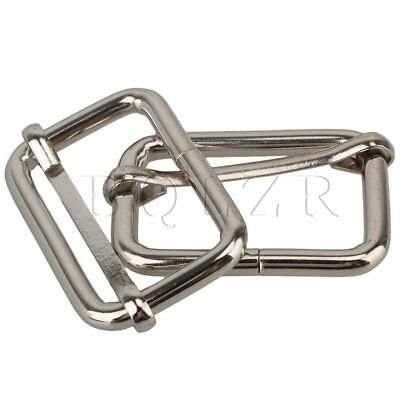 20pcs Nice Metal Belts Slide Buckle Loop Ring For Backpack Luggage HandBag