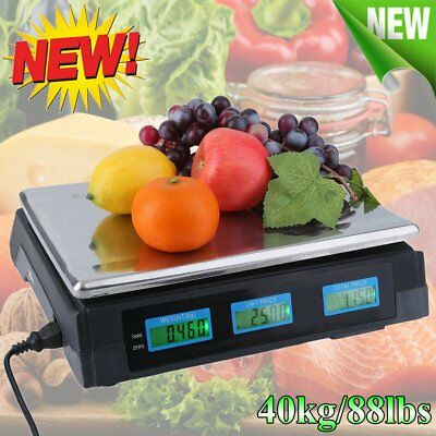 40kg(88lb) LCD Digital Scale Price Computing Food Electronic Counting Weight HM