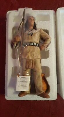 """Home Interiors Vintage Collectible """"Night Hawk"""" Indian Figurine"""