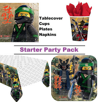 Lego Ninjago Movie Green Ninja 8-48 Guest Starter Party Pack Cup | Plate Napkins