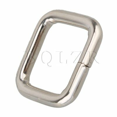 20 x 20mm Metal Dee Ring Purse Handbag Loop Hook Webbing Belts Buckle Adjuster