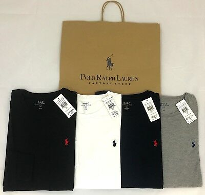 Ralph Lauren Men's Genuine New Long Sleeve Crew Neck T-Shirt Tee