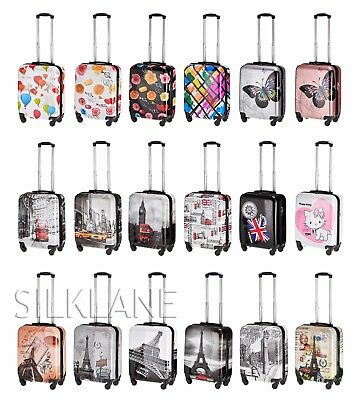 """Hard Shell 4 Wheels Suitcase PC 19"""" Luggage Travel Bag Case Cabin Hand Carry On"""