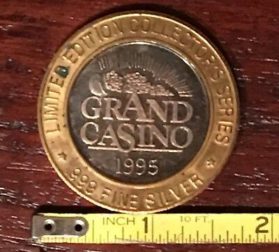 Grand Casino Limited Edition Collectors Series Coin 1995 .999 Royal Flush