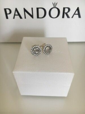 New Pandora Statement Sparkling Earrings S925 ALE