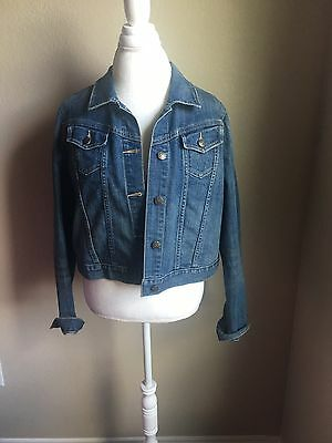 Old Navy Maternity Jean Jacket Large Jean Size Large Denim Blue Stretch