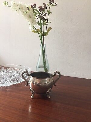 Silver Plated Sugar Bowl Wedding Decor used as vase