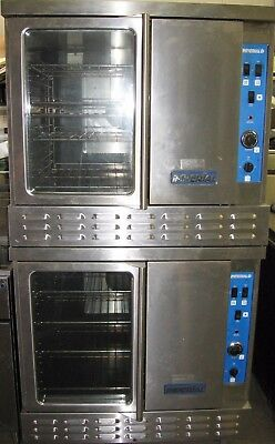 2 Imperial Natural /LP Propane Gas Restaurant Convection Ovens Double Stack Oven