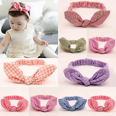 9 PCS Baby Toddler Kids Girls Bow Hairband Turban Knot Cute Headband Headwear